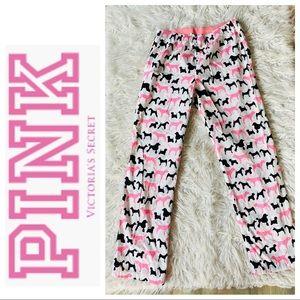 PINK Victoria's Secret cute dog logo pj pants